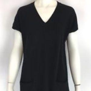Vince 100% Cashmere Black Pocket Sweater Dress